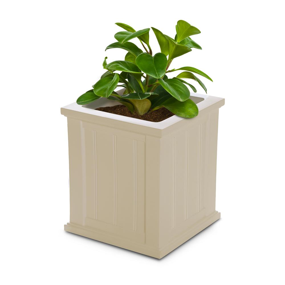 Mayne Cape Cod 16 in. Square Clay Plastic Planter