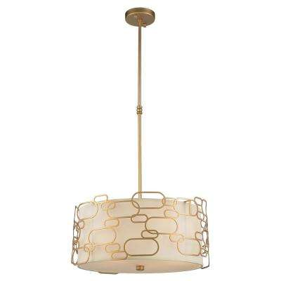 Montauk 5-Light Matte Gold Pendant