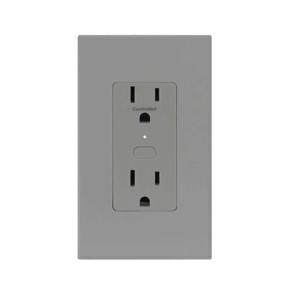 Insteon OutletLinc 15 Amp Duplex Outlet - Gray