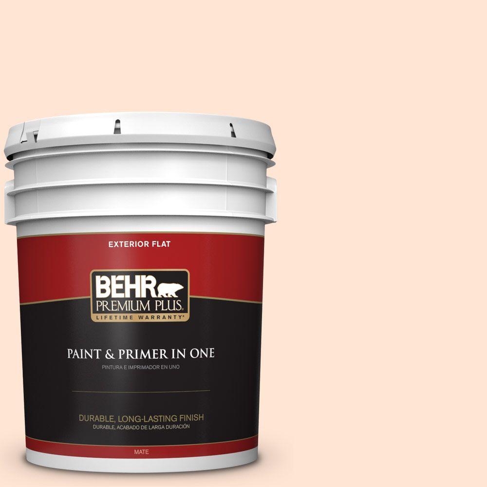 BEHR Premium Plus 5-gal. #P210-1 Sour Candy Flat Exterior Paint