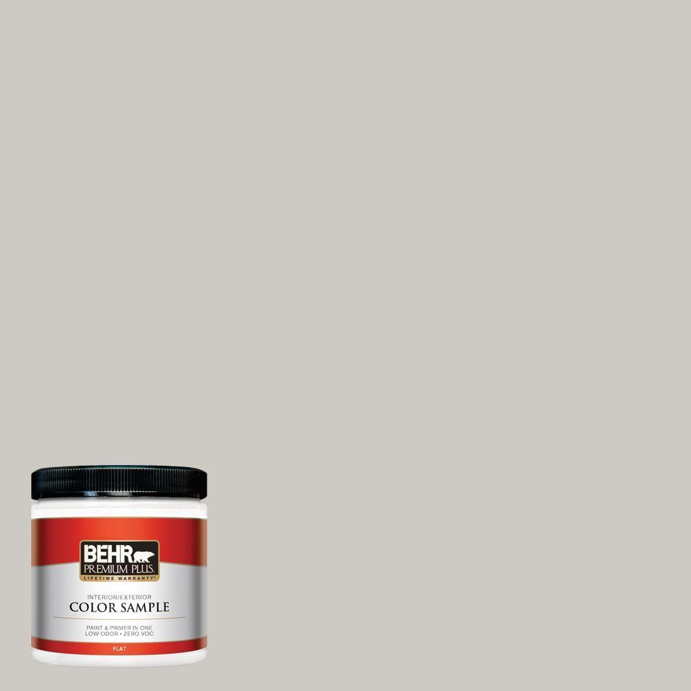 BEHR Premium Plus 8 oz. #790C-3 Dolphin Fin Flat Zero VOC Interior/Exterior Paint and Primer in One Sample