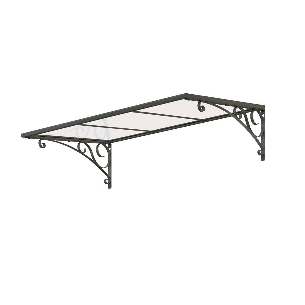 4.4 ft. Venus 1350 Gray / Clear Awning (53.1 in. W