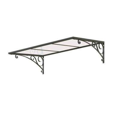 4.4 ft. Venus 1350 Gray / Clear Awning (53.1 in. W x 34.6 in. D x 14 in. H)
