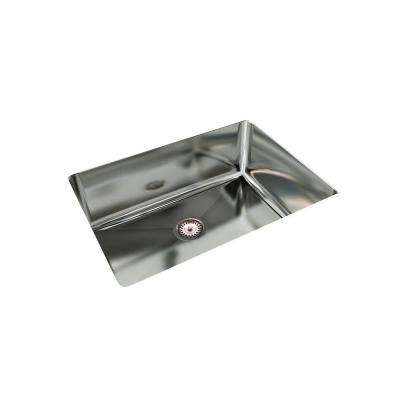 Cantrio Undermount Stainless Steel 32 in. Single Bowl Kitchen Sink