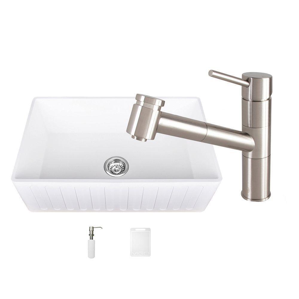 0 hole farmhouse kitchen sink and branson acrylic   kitchen sinks   kitchen   the home depot  rh   homedepot com