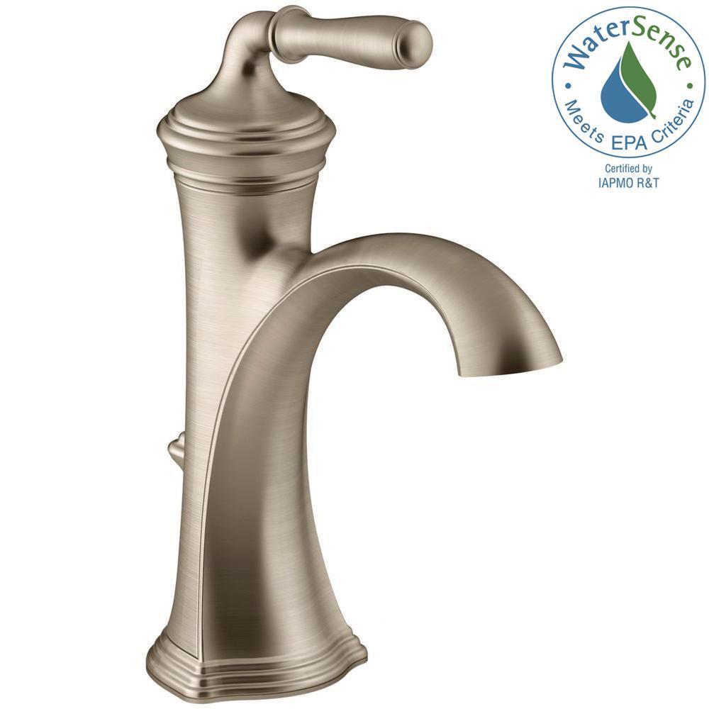 KOHLER Devonshire Single Hole Single Handle Water-Saving Bathroom ...