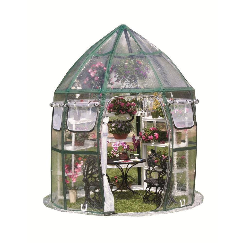 FlowerHouse Conservatory 8 ft. x 8 ft. Pop-Up Greenhouse
