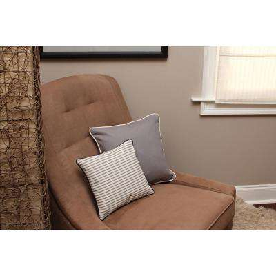 16 in. x 16 in. Gray  Standard Pillow Stripes with Green Eco Friendly Insert