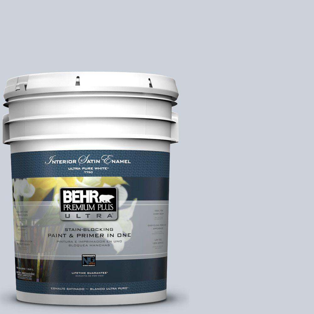 BEHR Premium Plus Ultra 5-gal. #N480-1 Light Drizzle Satin Enamel Interior Paint