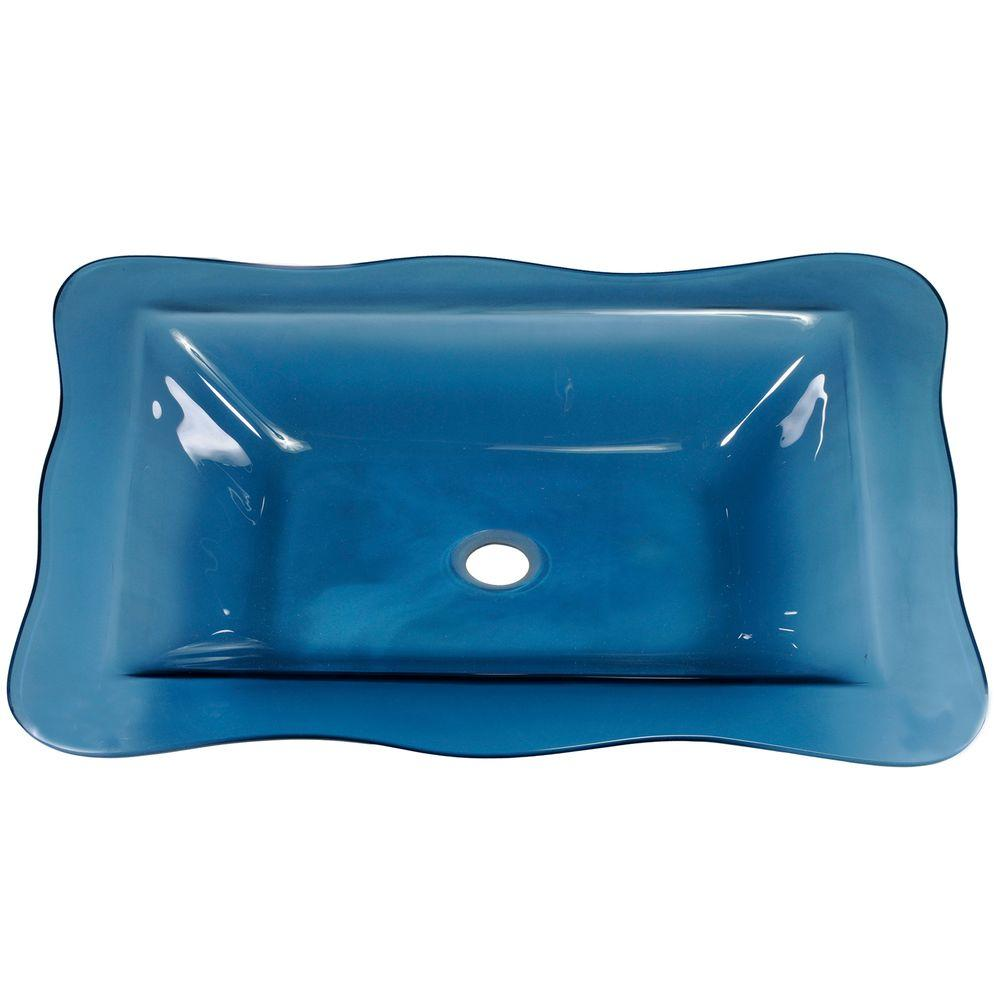 Allure Vessel Sink with Pop Up Drain in Coralaze