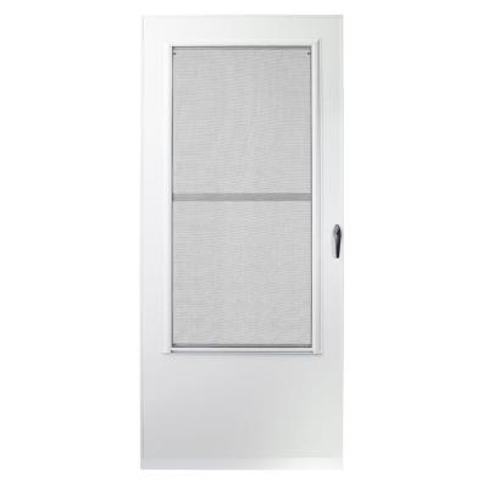 32 in. x 80 in. 200 Series White Universal Triple-Track Aluminum Storm Door