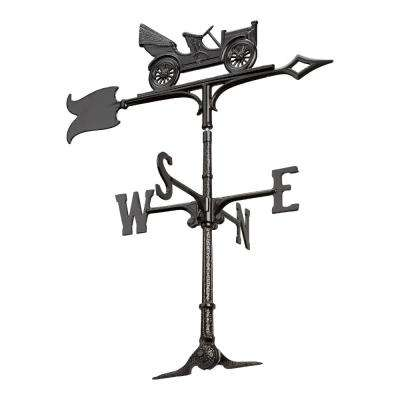 30 in. Black Antique Auto Accent Weathervane