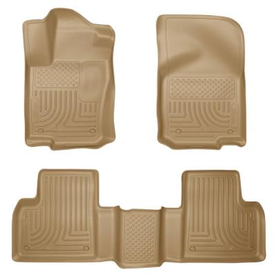Black CFMBX1MA7118 Nylon Carpet Coverking Custom Fit Front and Rear Floor Mats for Select Mazda CX-7 Models