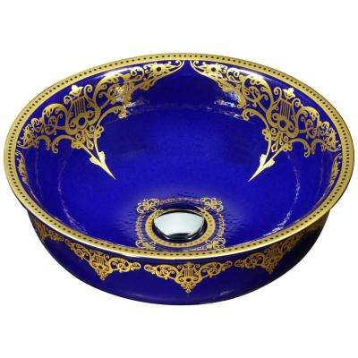Scepter Series Vessel Sink in Royal Blue