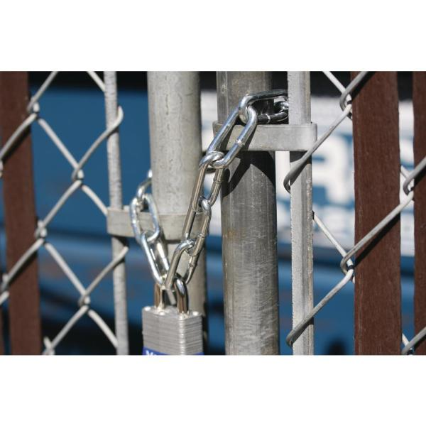 Strong Heavy Duty Steel Chain BZP Bright Zinc Plated Side Welded Security Links 20m, 5mm