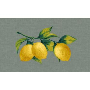 Lemon Branch Stone Gray Outdoor Lumbar Pillow