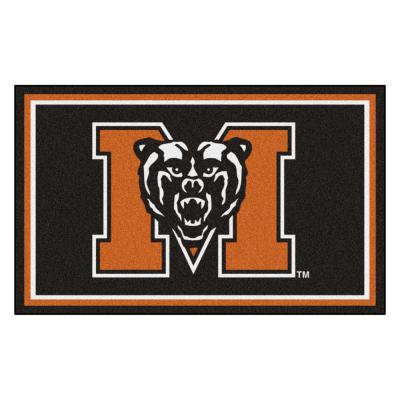 NCAA - Mercer University Black 4 ft. x 6 ft. Area Rug