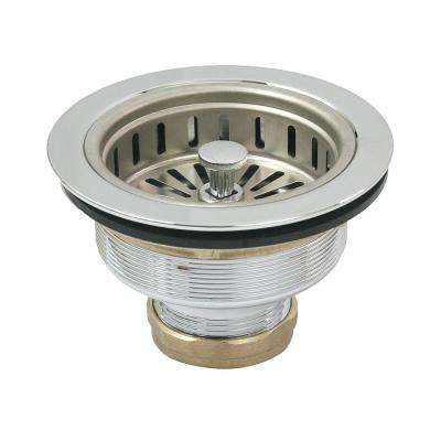 3-1/2 in. - 4 in. Heavy-Duty Kitchen Sink Stainless Steel Drain Assembly with Strainer Basket KOHLER Style Stopper