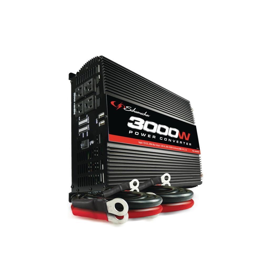 3000-Watt 12-Volt Battery Power To 120-Volt AC Power Inverter