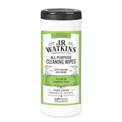 35-Count Aloe and Green Tea All-Purpose Wipes (Case of 6)