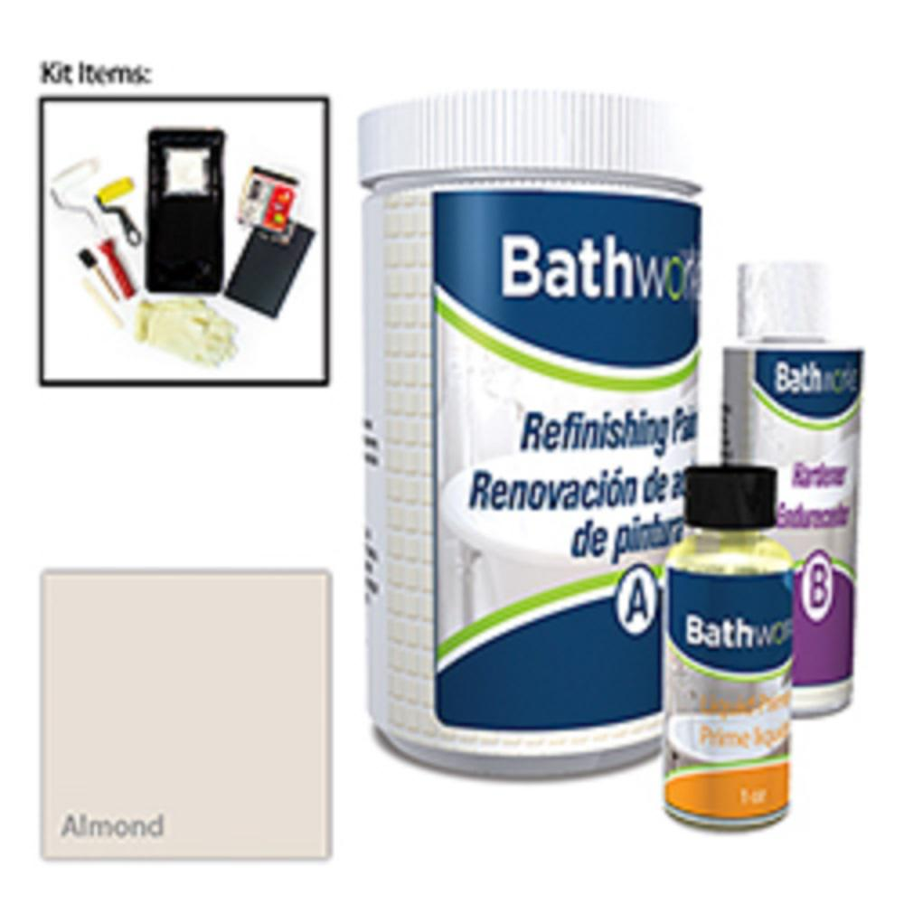 BATHWORKS 20 oz. DIY Bathtub and Tile Refinishing Kit- Al...