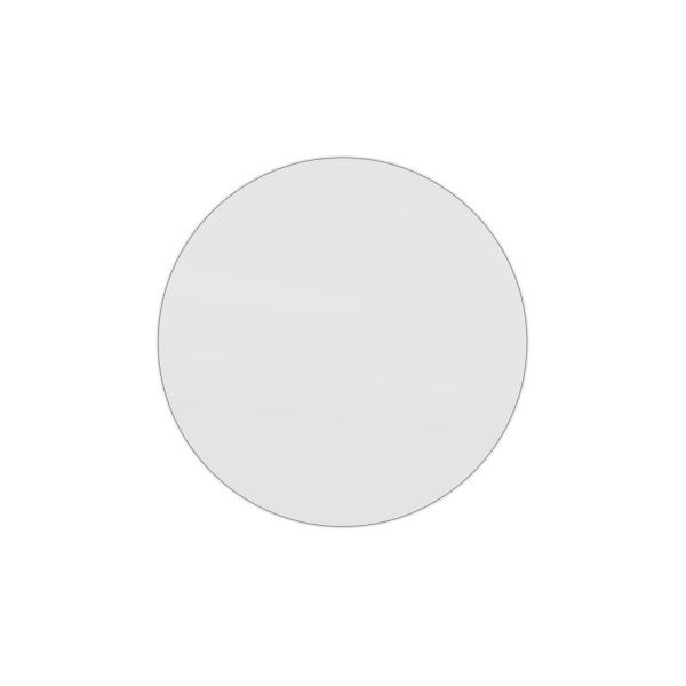 28 in. W x 28 in. H Framed Round Bathroom Vanity Mirror in White