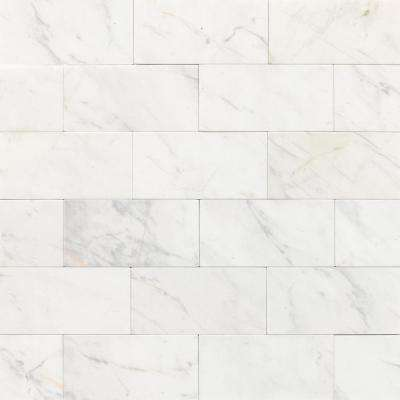 Junius Marble Matte 3 in. x 6 in. Marble Wall Tile (10 sq. ft. / case)