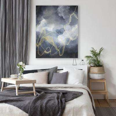 """36 in. x 48 in. """"Severe Storms"""" by Mat Printed and Painted Canvas Wall Art"""