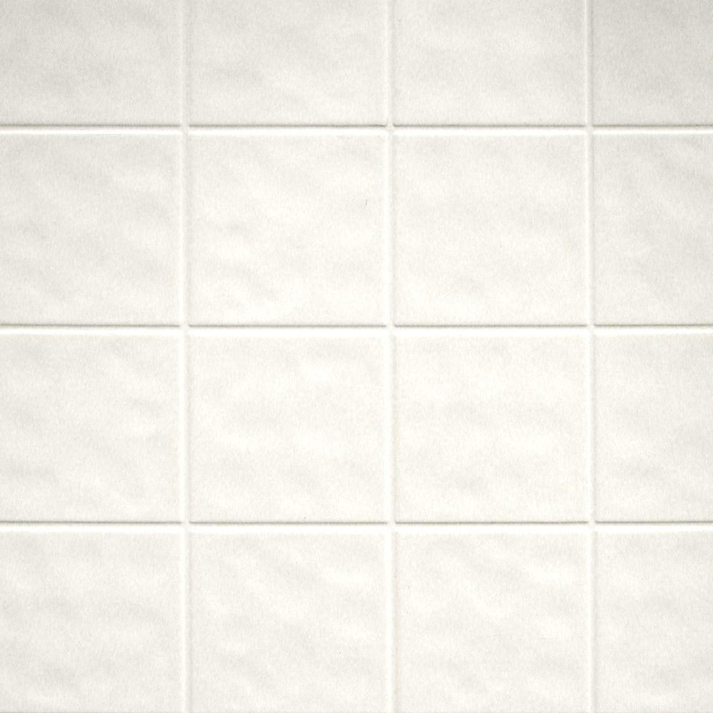 Aquatile 1/8 in. x 48 in. X 96 in. Toned White Tileboard