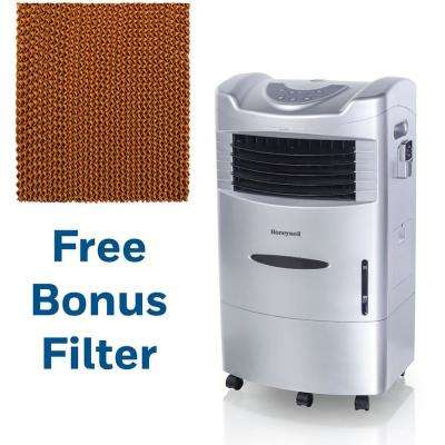 470 CFM 3-Speed Portable Evaporative Air Cooler with Bonus Replacement Filter and Remote Control for 280 sq. ft.