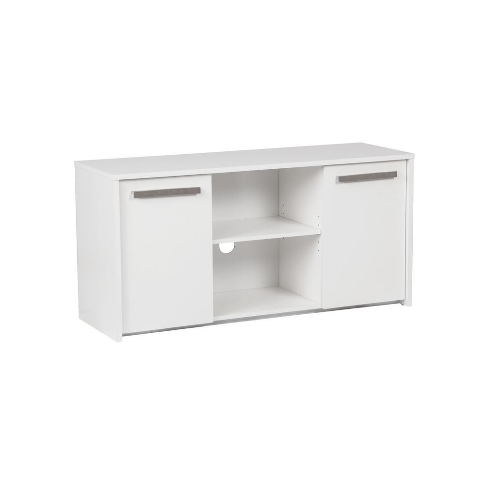 Alaska White 2-Door Storage Cabinet