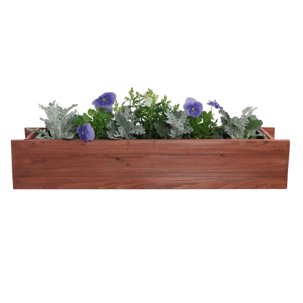 30 in. x 7 in. Wood Window Box (4-Case)