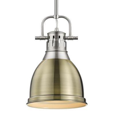 Duncan 1-Light Pewter Standard Mini Pendant with Metal Shade