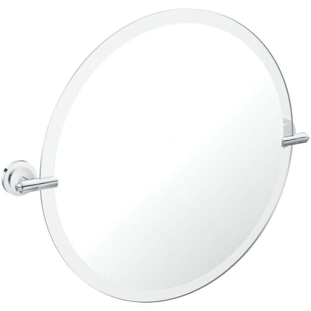 Framless Pivoting Wall Mirror In Chrome