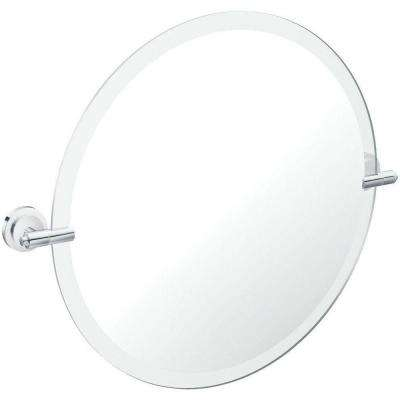Iso 22 in. x 26 in. Framless Pivoting Wall Mirror in Chrome