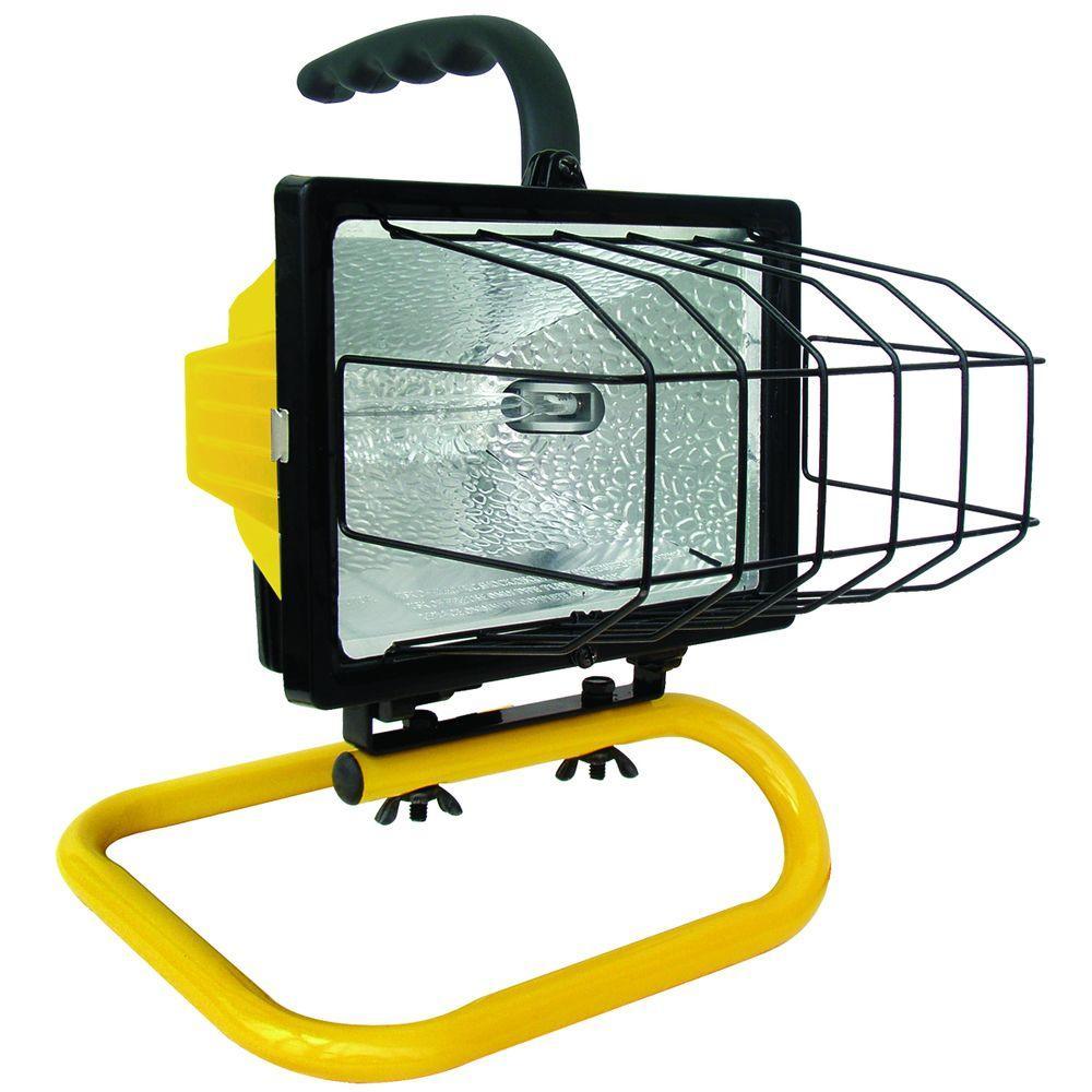 Work Light Bulbs Home Depot: Voltec 500-Watt Halogen Portable Work Light-08-00209