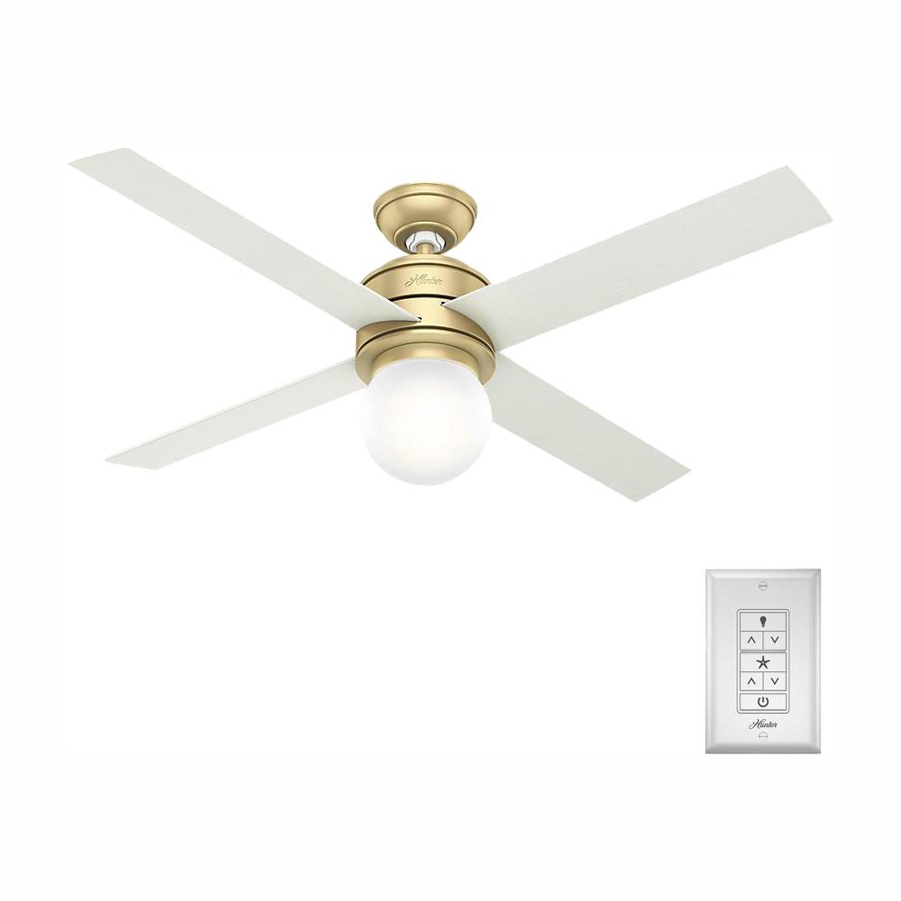 Hunter Hunter Hepburn 52 in. LED Indoor Modern Brass Ceiling Fan