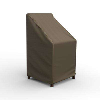 NeverWet Hillside 49 in. H x 28 in. W x 27 in. D Tan Black and Tan Chair/Barstool Cover