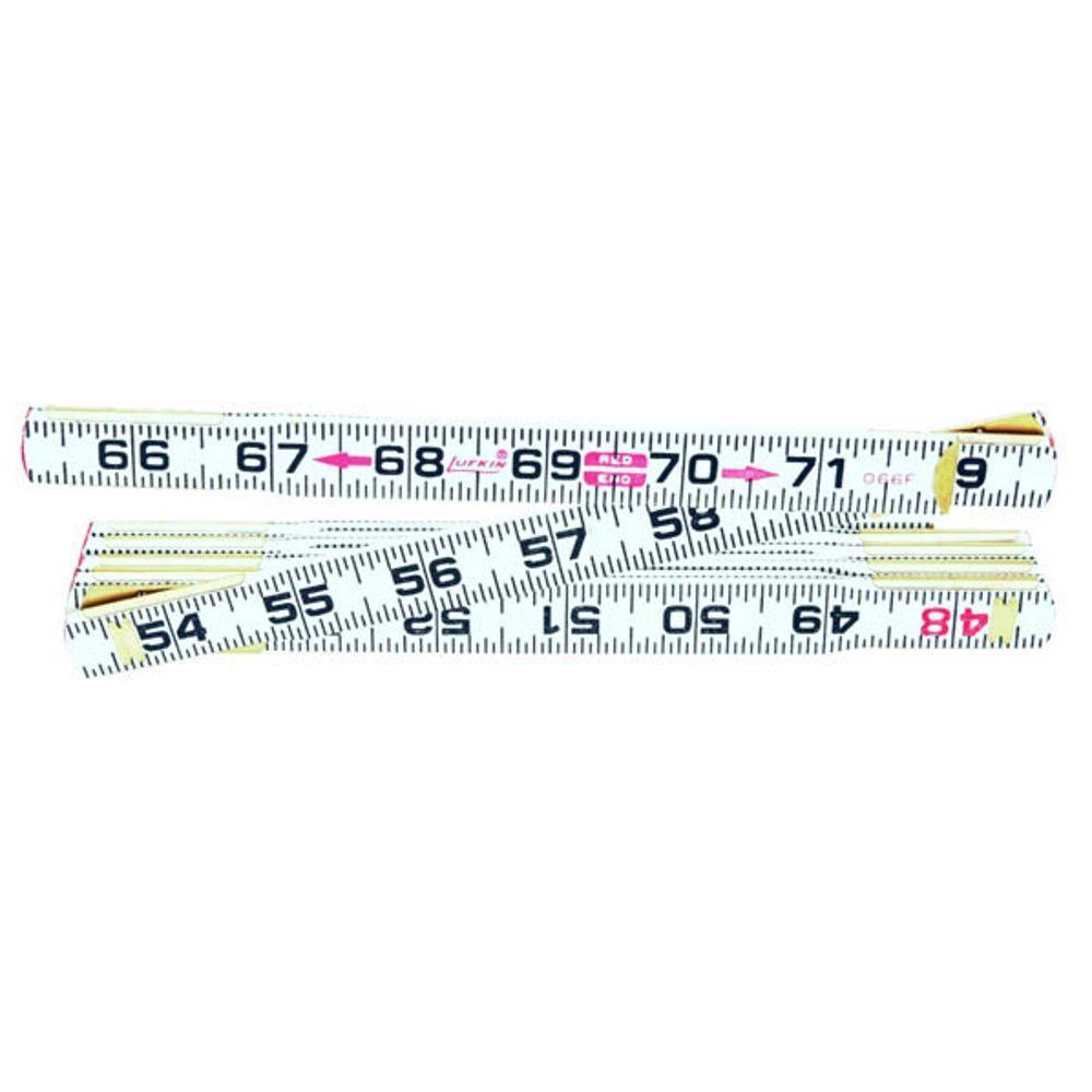 Lufkin 6 Ft Flat Read Wood Folding Rule Measuring Tape