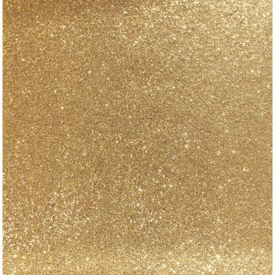 Sequin Sparkle Gold Fabric Strippable Roll (Covers 33 sq. ft.)