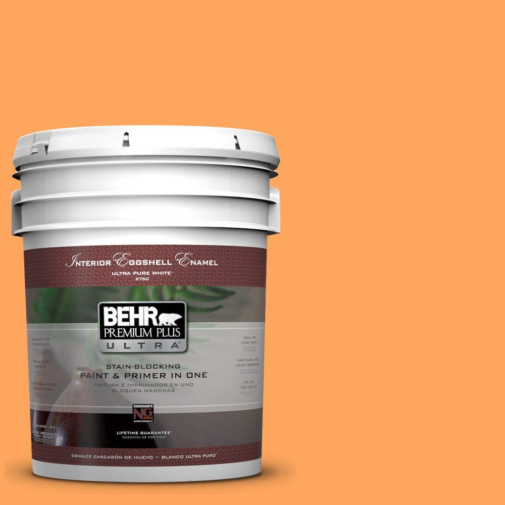 BEHR Premium Plus Ultra 5-gal. #270B-5 Melon Eggshell Enamel Interior Paint