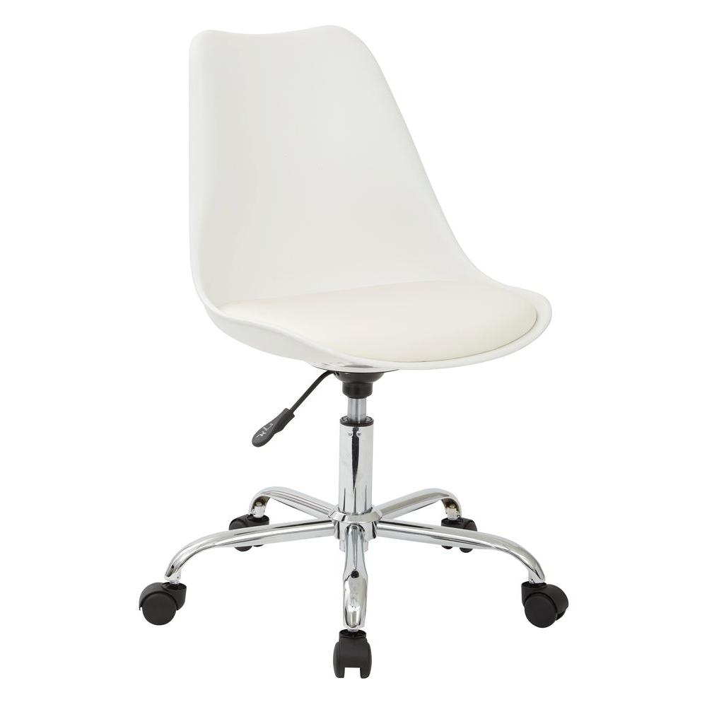 Emerson White Office Chair