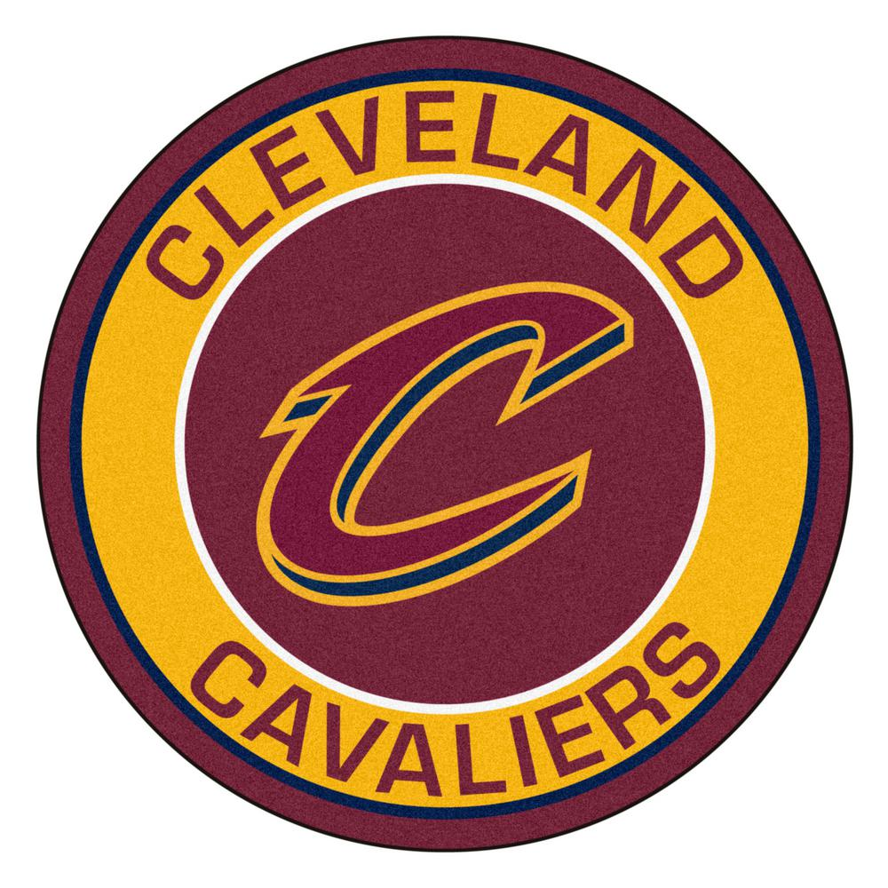 Fanmats Nba Cleveland Cavaliers Burgundy 2 Ft X 2 Ft Round Area