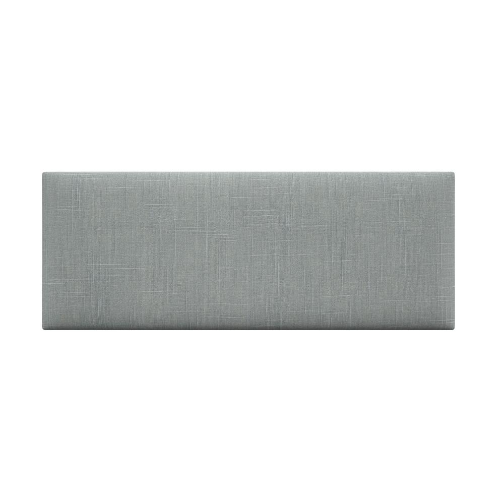 Cotton Weave Ash Grey Queen-Full Upholstered Headboards/Accent Wall Panels