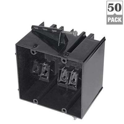 2-Gang 34 cu. in. New Work Nail-On Electrical Outlet Box (50-Pack)