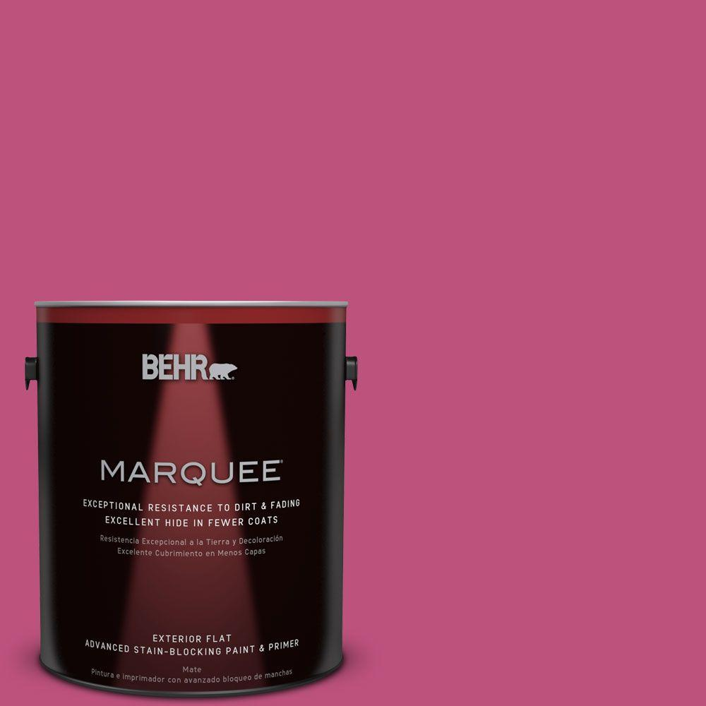 BEHR MARQUEE 1-gal. #S-G-100 Tutti Frutti Flat Exterior Paint, Orchid Rose