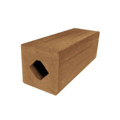 Vantage 51 in. x 4-1/4 in. x 4-1/4 in. Tigerwood Solid Composite Square Post with Center Chase