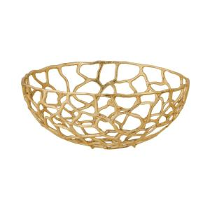 Free Form Large Decorative Bowl in Gold