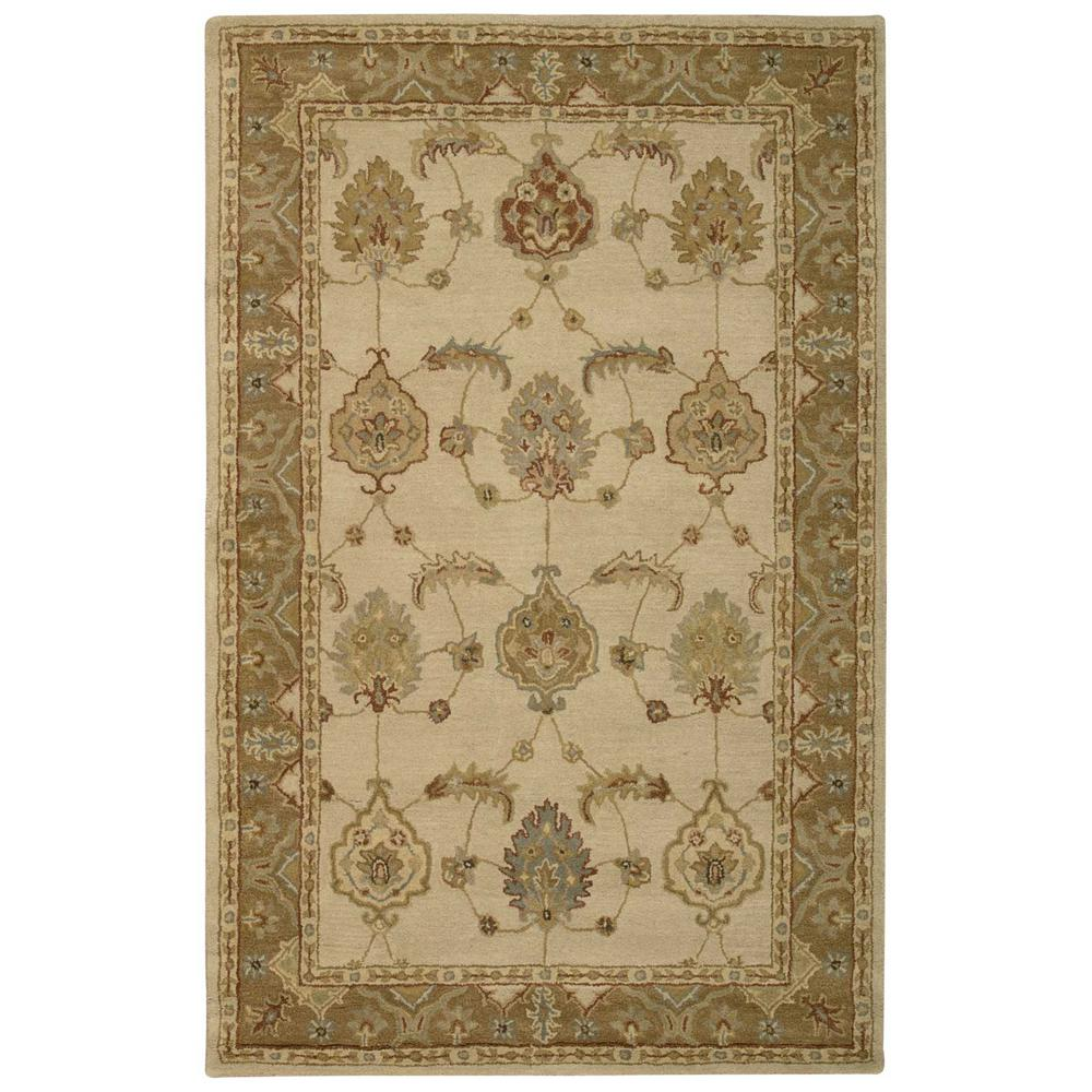 India House Ivory/Gold 5 ft. x 8 ft. Area Rug