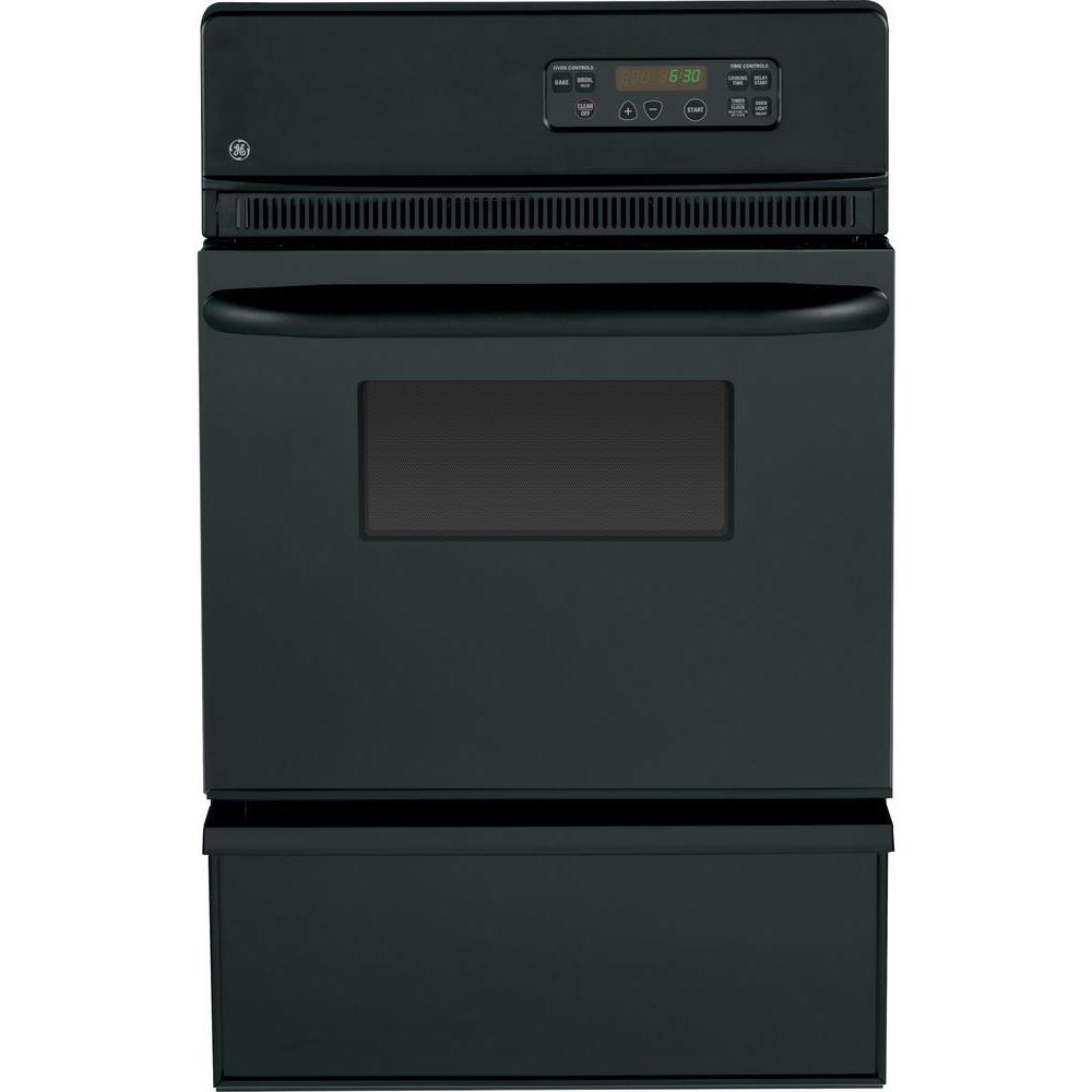 GE 24 in. Single Gas Wall Oven in Black